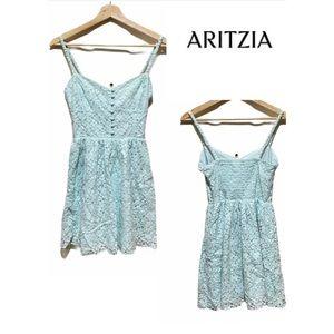 TALULA By ARITZIA Mint Green Lacey Mini Dress